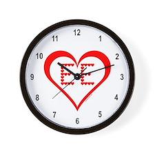 EE Hearts Wall Clock