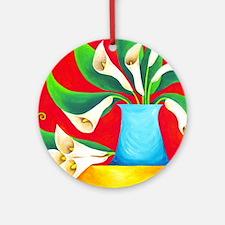 calla lilies Round Ornament