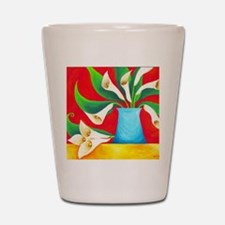 calla lilies Shot Glass