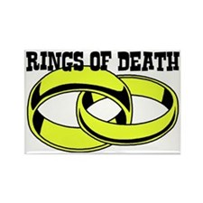 RINGS OF DEATH Rectangle Magnet