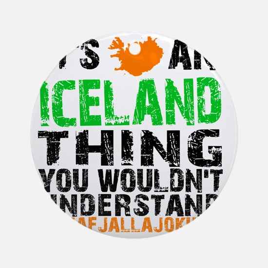 Iceland Thing Round Ornament