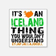 "Iceland Thing Square Sticker 3"" x 3"""