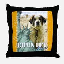chainoff2010logornd Throw Pillow