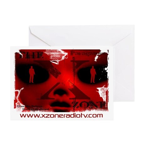 The X-Zone Alien_Red Greeting Card