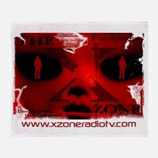 The X-Zone Alien_Red Throw Blanket