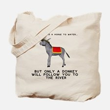 T0035A-DonkeyToRiver-2000x2000 Tote Bag