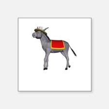 "T0035B-DonkeyToRiver-2000x2 Square Sticker 3"" x 3"""