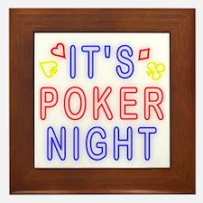 T0083B-PokerNight-2000x2000 Framed Tile