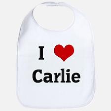 I Love Carlie Bib
