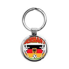 germany a Round Keychain