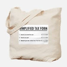 Simplified Tax Tote Bag