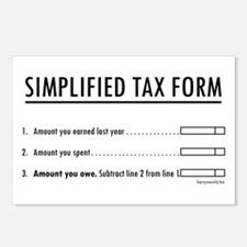Simplified Tax Postcards (Package of 8)