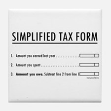 Simplified Tax Tile Coaster