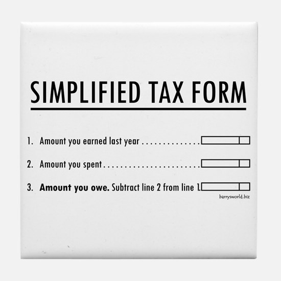 Simplified Tax Tile Coaster