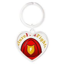 future-firefighter-2 Heart Keychain