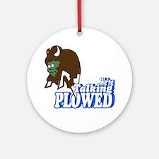 Talking Plowed! Round Ornament
