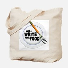 Write for Food Tote Bag