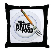 Write for Food Throw Pillow
