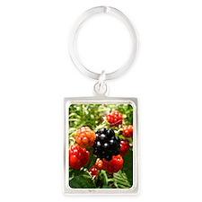 Berries Portrait Keychain