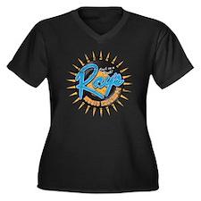 Raymusicexch Women's Plus Size Dark V-Neck T-Shirt