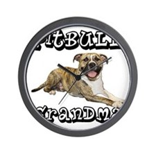 PitBullGrandma_Tigger Wall Clock