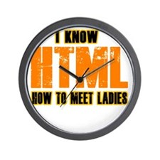 I Know HTML - How to Meet Ladies Wall Clock