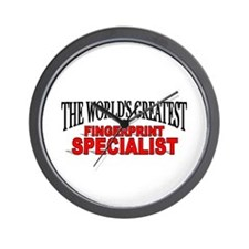 """The World's Greatest Fingerprint Specialist"" Wall"