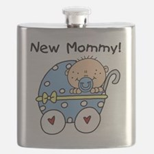 Carriage New Mommy of Boy Flask