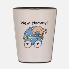 Carriage New Mommy of Boy Shot Glass