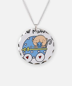 Carriage New Mommy of Boy Necklace