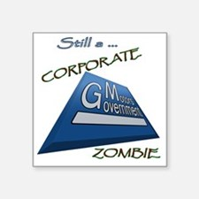"GMZombie2.gif Square Sticker 3"" x 3"""