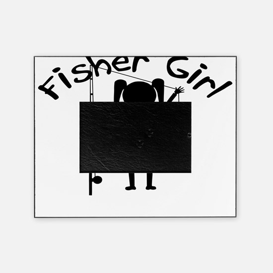 fisher girl 4 white Picture Frame