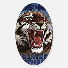 Vintage Circus Tiger Sticker (Oval)