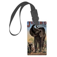Vintage Circus Elephant Luggage Tag