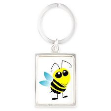 Honey Bee Portrait Keychain