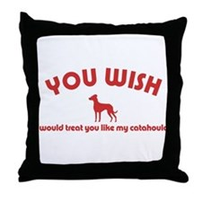 Louisiana Catahoula Leopard D Throw Pillow