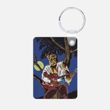 RockabillyWolf Aluminum Photo Keychain
