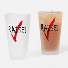 check_raise_bl Drinking Glass