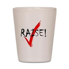 check_raise_bl Shot Glass