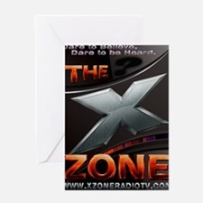 The-X-Zone-Future-Logo_4_Hot-Metal_m Greeting Card