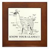 Funny llama Framed Tiles