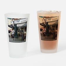 OldStatueVert Drinking Glass