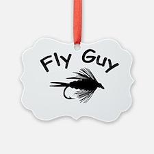 2-fly guy 2 4 white Ornament