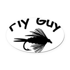 2-fly guy 2 4 white Oval Car Magnet