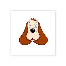 """cocker dogpark white Square Sticker 3"""" x 3"""""""