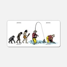 Fishing 2 Aluminum License Plate