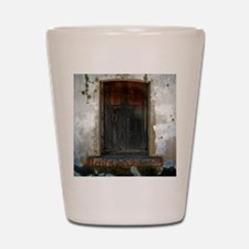 wooded window Shot Glass
