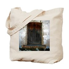 wooded window Tote Bag