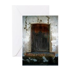 wooded window Greeting Card