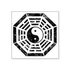 "Dharma Yin Yang Square Sticker 3"" x 3"""